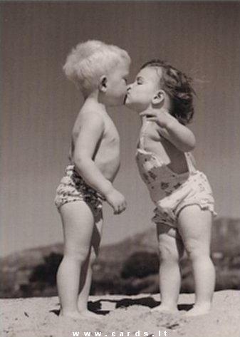 Childish kiss