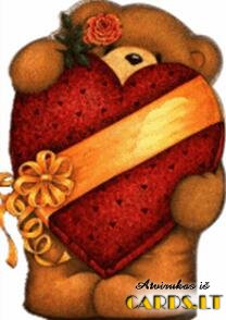 Teddy bear with huge heart