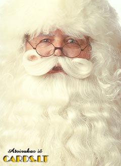 Kalėdų senelio veidas
