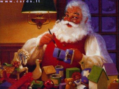 Santa ruošia dovanėles