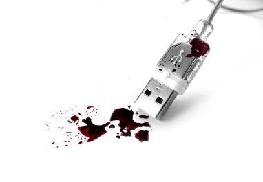 Kruvinas USB