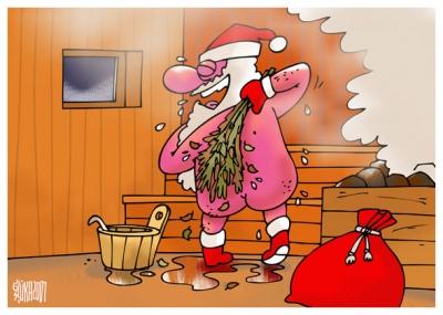 Santa saunoje