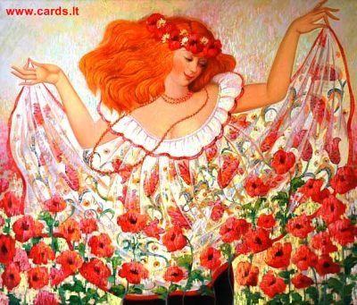 Girl of flowers